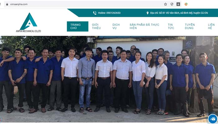 công ty xi mạ khu vực TPHCM An Pha